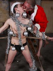 Bad santa fucks napped boy