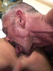 Extreme anal workout for a sexy blond boy from mature gay
