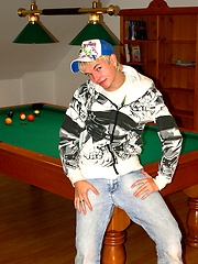 Hot amateur teen boy playing with his balls