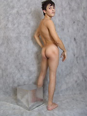 Artful posing is not enough for this adorable twink – he wants some action!