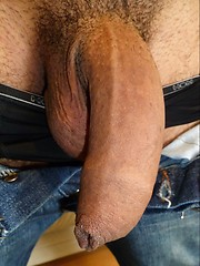 Hot latino stud jacking off his uncut cock