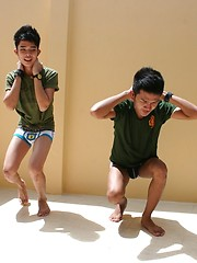 Thai Twink Fucking Threesome in \\\\\\\'Military Students Gone Gay\\\\\\\'