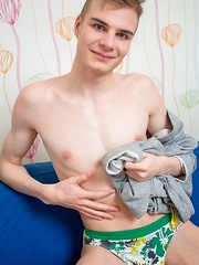 Horny Twink Caught Stretching His Ass-Hole