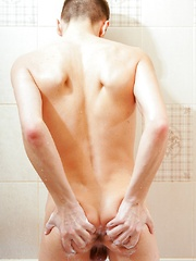 Shower Twink Solo Stroking