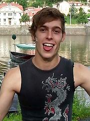 Straight Czech boy posing naked