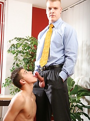 Big office man fucks his younger colleague