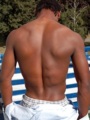 Handsome black boy Jerome shows off his assets