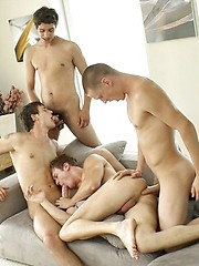 Marcel Gassion group fuck scene with Alec Rothko, Marco Bill and Paul Valery