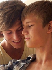 New Belami exclusive Sasha Akunin having his first boy on boy action with Kevin Warhol