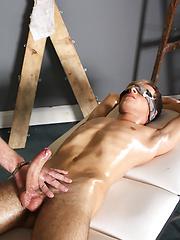 Sebastian Kane Strokes The Cum From Oli Jay