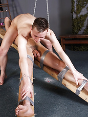 Muscled Boy Jake Edged!