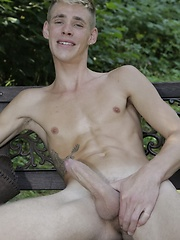 New Boy Gets His Arse Rimmed & Fucked Raw By A Horny Blond On A Park Bench!