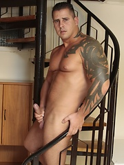 Muscular, Tattooed Hunk Gives Two Dirty Bitches A Hard Taste Of Bad-Boy Sex!