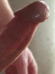 Chris King strokes his fat cock