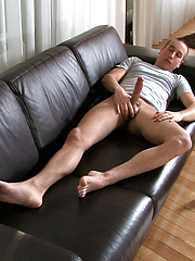 Big cocked boy masturbates & cums