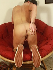 Gorgeous college boy Stephen Charles masturbating.