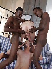 Two Horny White Bois Get Blacked - And One Gets His Cute, Hungry Ass Double-Dicked!