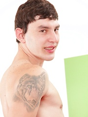 Cutey Corey is 22 years old and lives in Prague. Corey's sexy tats - smooth, lean body and fat ...