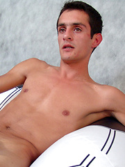 Slim gay beauty Jon has smooth, dark skin and is eager from the get-go to impregnate his belly ...