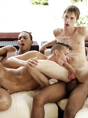 It's Out Of The Pool & Into A Couple Of Horny White Asses For These Two Mammoth Black Dudes!